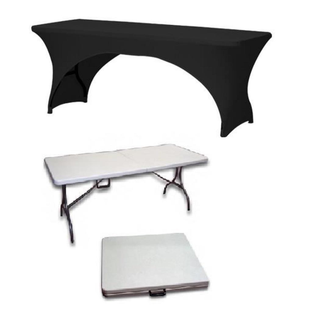 nappe stretch noir pour table mons event location. Black Bedroom Furniture Sets. Home Design Ideas