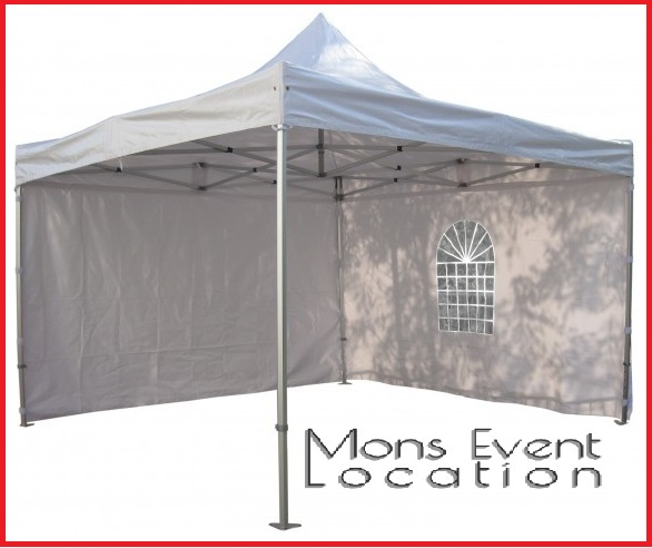tonnelle barnum pliante 3m sur 3m blanc mons event location. Black Bedroom Furniture Sets. Home Design Ideas